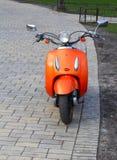 orange sparkcykel Fotografering för Bildbyråer