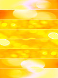 Orange sparkling textures. Vertical composition divided in eight horizontal lines with abstract sparkling textures in orange and yellow tones Royalty Free Stock Photos