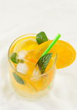 Orange and sparkling water drink Stock Image