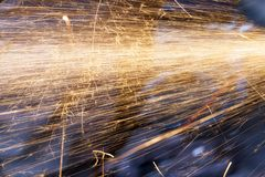 Orange sparks, repair Royalty Free Stock Photography