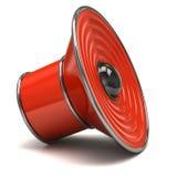 Orange speaker icon Stock Photo