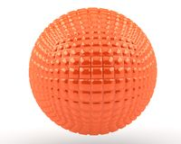 Orange sphere(5) Royalty Free Stock Image