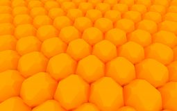 Orange sphere array. 3D image Royalty Free Stock Images