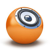 Orange sphere speaker Stock Photos