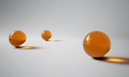 orange spheres Arkivbilder