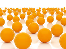 Orange spheres Royalty Free Stock Images