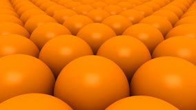 Orange spheres background 3D Royalty Free Stock Image
