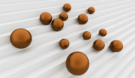 Orange spheres get down Stock Photos