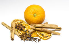 Orange and spice stock photography