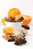 Orange and spices Royalty Free Stock Image