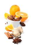 Orange and spices Stock Photography