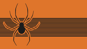 Orange spider banner Royalty Free Stock Photo