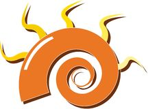 Orange spiral Royalty Free Stock Photo