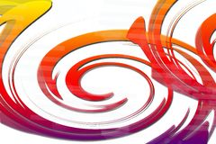 orange spiral, abstract background Royalty Free Stock Photos