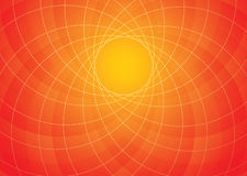Orange spiral background Stock Photography