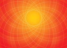 Orange spiral background Stock Photography