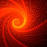 Orange spiral light Stock Image
