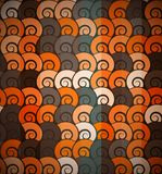 Orange spiral pattern seamless Stock Photo