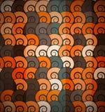 Orange spiral pattern seamless Stock Photo