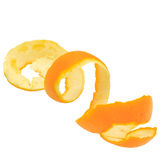 Orange spiral peel Royalty Free Stock Photos