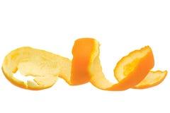 Orange spiral peel Stock Photos