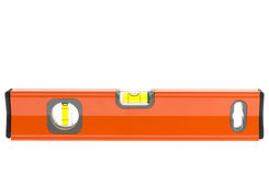 Orange spirit level Stock Photo