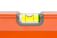 Orange spirit level Royalty Free Stock Photos