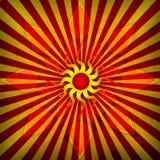 Orange Spirutal Sun Stock Image