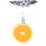 Orange splash Stock Photography