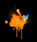 Orange splash stock illustration