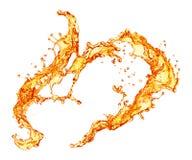 Orange splash. Orange juice splash Isolated on white background Royalty Free Stock Photography