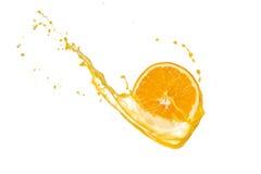 Orange splash Royalty Free Stock Photo