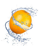 Orange splash Royalty Free Stock Photo
