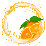 Orange splash Royalty Free Stock Images