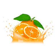 Orange splash Royalty Free Stock Photography