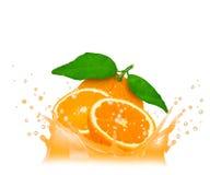 Orange splash Royalty Free Stock Photography