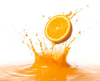Orange splash Stock Images
