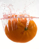 Orange splash Royalty Free Stock Image