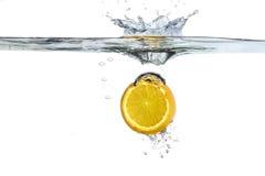 Orange splash. Image shot part of his water Stock Image