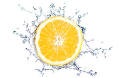 Orange splash isolated Royalty Free Stock Image
