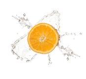 Orange splash isolated on white background Royalty Free Stock Photo