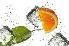 Orange Splash Stock Image