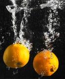 Orange splash Royalty Free Stock Image
