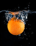 Orange and splash water Stock Image