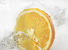 Orange splashing Royalty Free Stock Photography