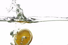Free Orange Splashing Water Stock Photo - 1690630