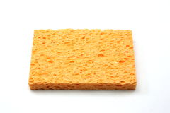 An orange sponge Royalty Free Stock Image