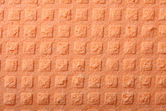 Orange sponge foam as background texture Stock Images