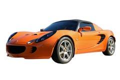 Orange Sport-Auto Stockfoto