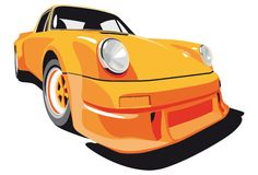 Orange sport car Royalty Free Stock Photo